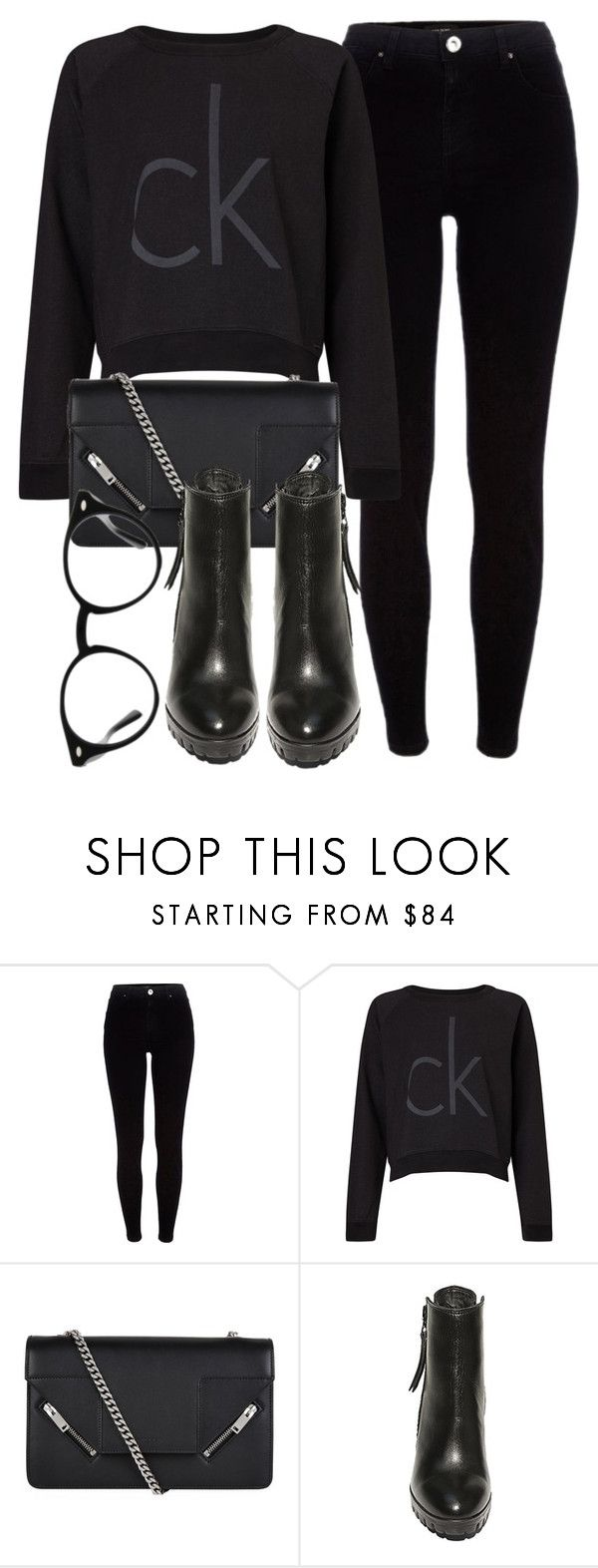 """Untitled #5664"" by laurenmboot ❤ liked on Polyvore featuring River Island, Calvin Klein, Yves Saint Laurent, Steve Madden and Ray-Ban"