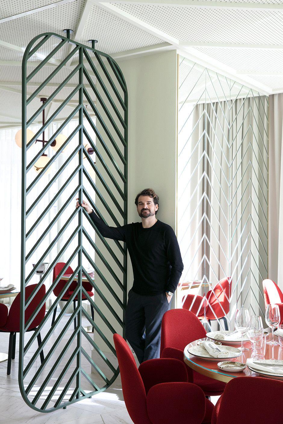Barceló torre de madrid interior restourant pinterest divider