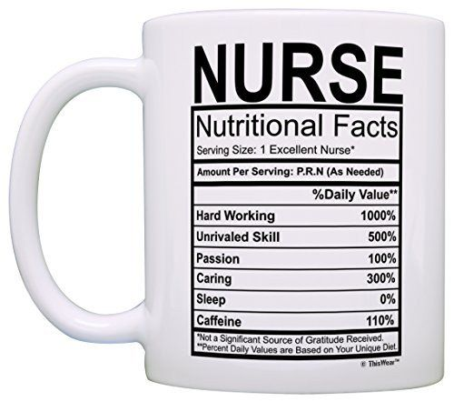 Nurse Nutritional Facts Label Mug Nurse Appreciation Gifts Engineering Gifts Mugs