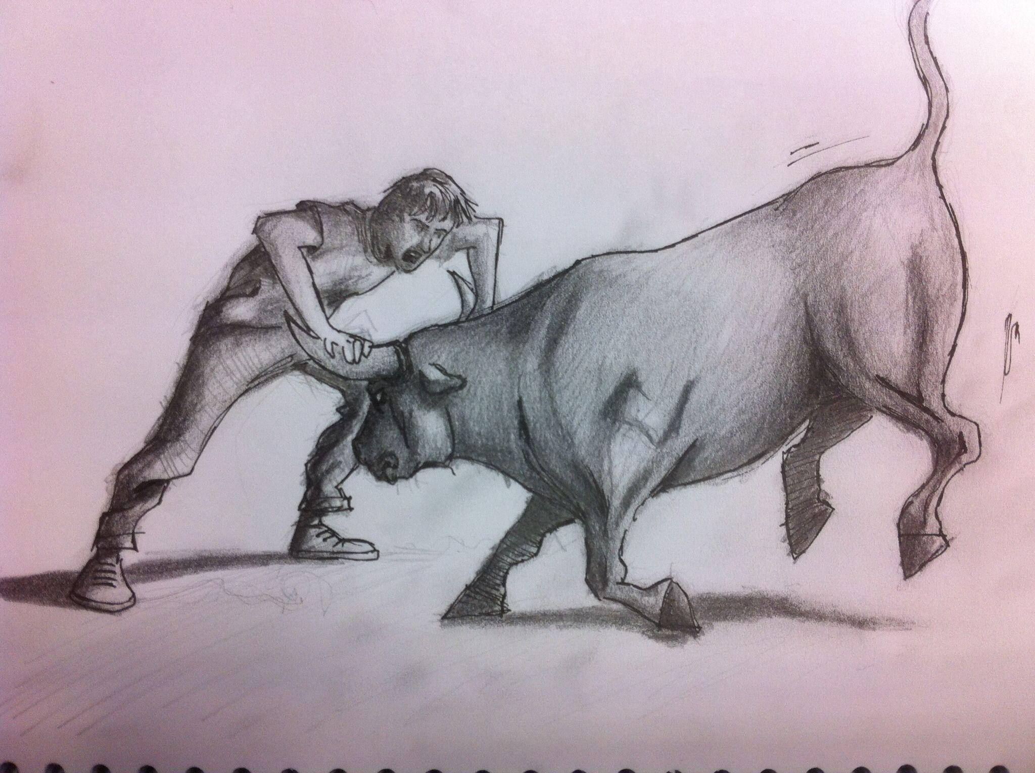 Dibujos De Mi Libreta: Coger El Toro Por Los Cuernos