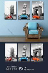 Frameless painting European style retro classic car download | Pikocean – –