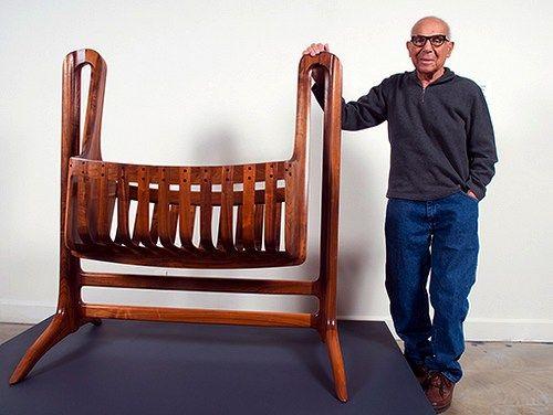 Sam Maloof With Cradle Furniture Historic In 2019 Sam