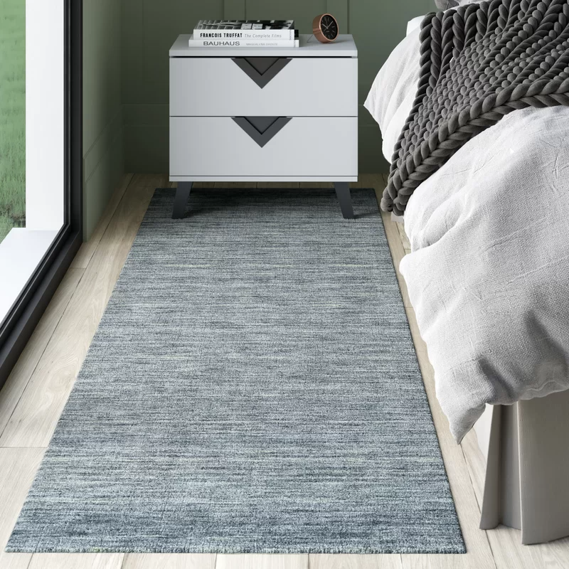 Carbonell Handmade Tufted Wool Cotton Smoke Area Rug Area Rugs Tufted Wool Area Rugs