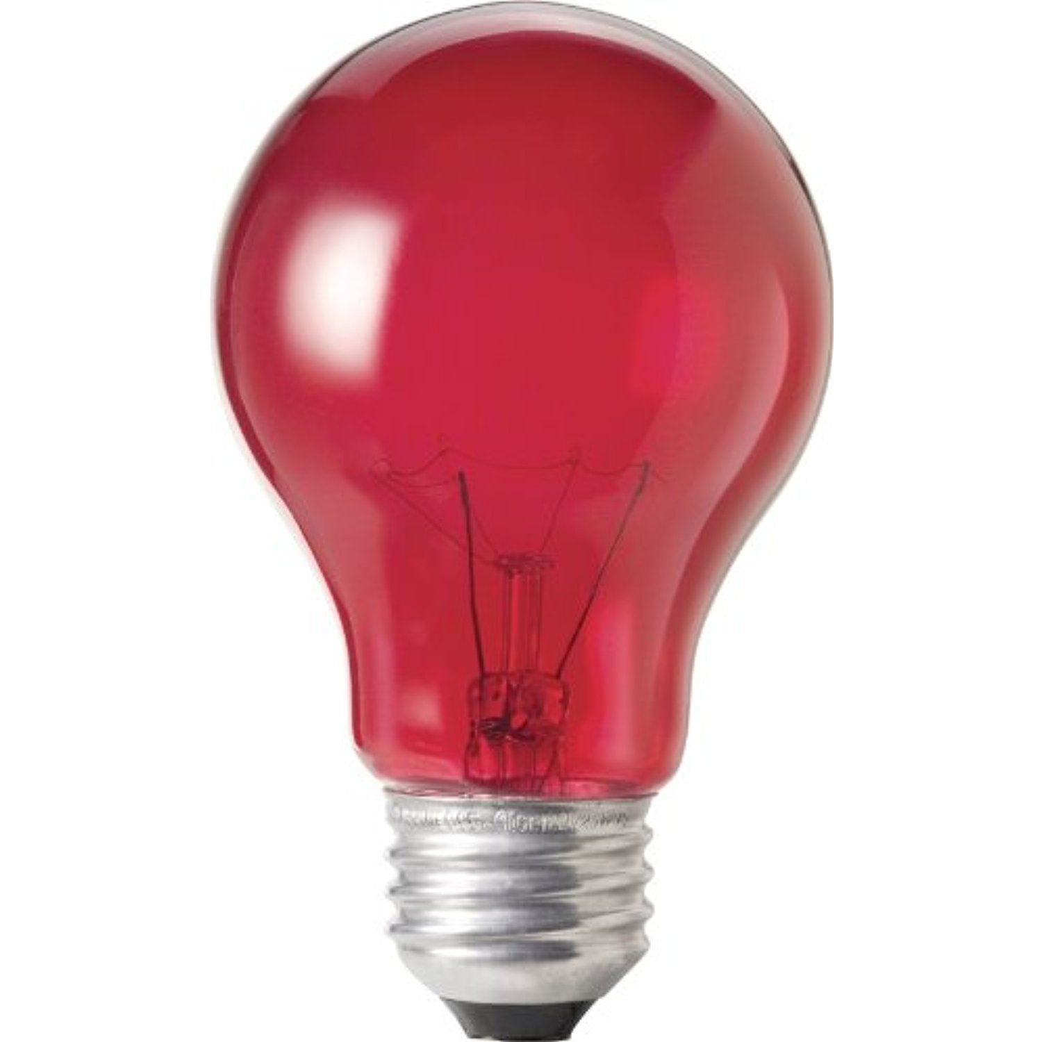 Philips 144220 25 Watt A19 Light Bulb Transparent Red Visit The