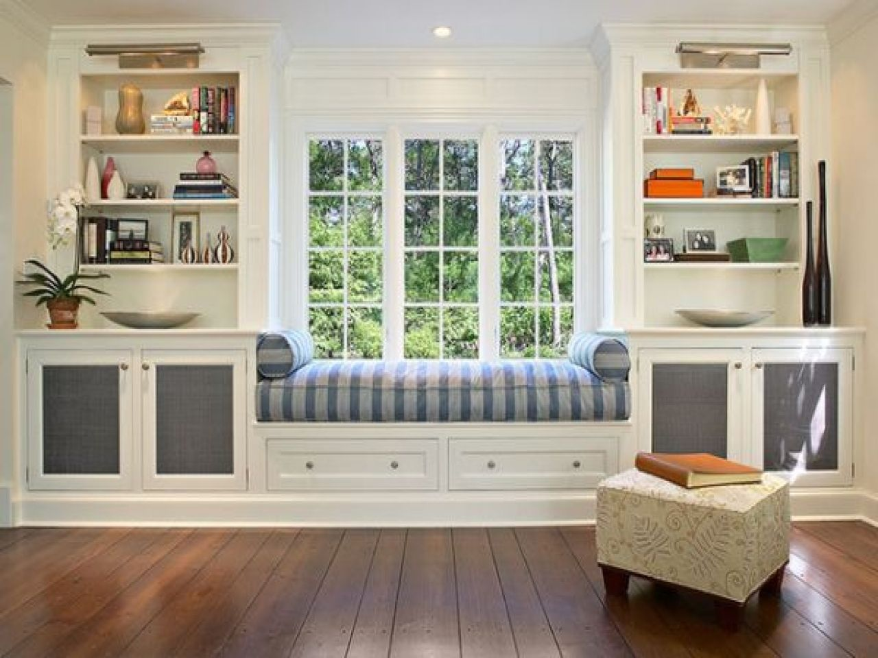 Window Seating For Dining Room - East hampton colonial traditional living room window seat cushion foam wrapped in down