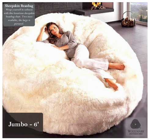 Miraculous Um Hmm Giant Bean Bag Lovesac The Bigone Bean Bag Onthecornerstone Fun Painted Chair Ideas Images Onthecornerstoneorg