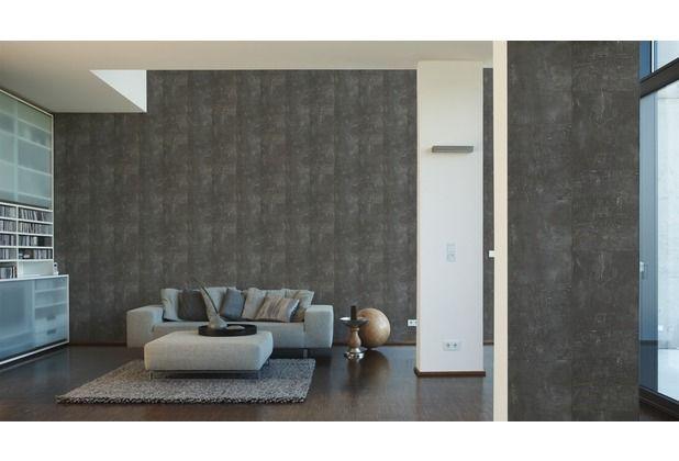 Eine Tapete die beeindruckt! Schönes, dunkles Schieffer-Design - stein tapete wohnzimmer ideen