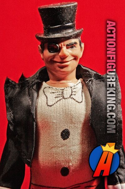 """Batman 8"""" scale Penguin articulated action figure with fabric clothing from Mego Corporation. Visit ActionFigureKing.com for a huge database of new and vintage toys featuring Marvel and DC Comics. #penguin #actionfigures #megocorporation #mego #batman"""