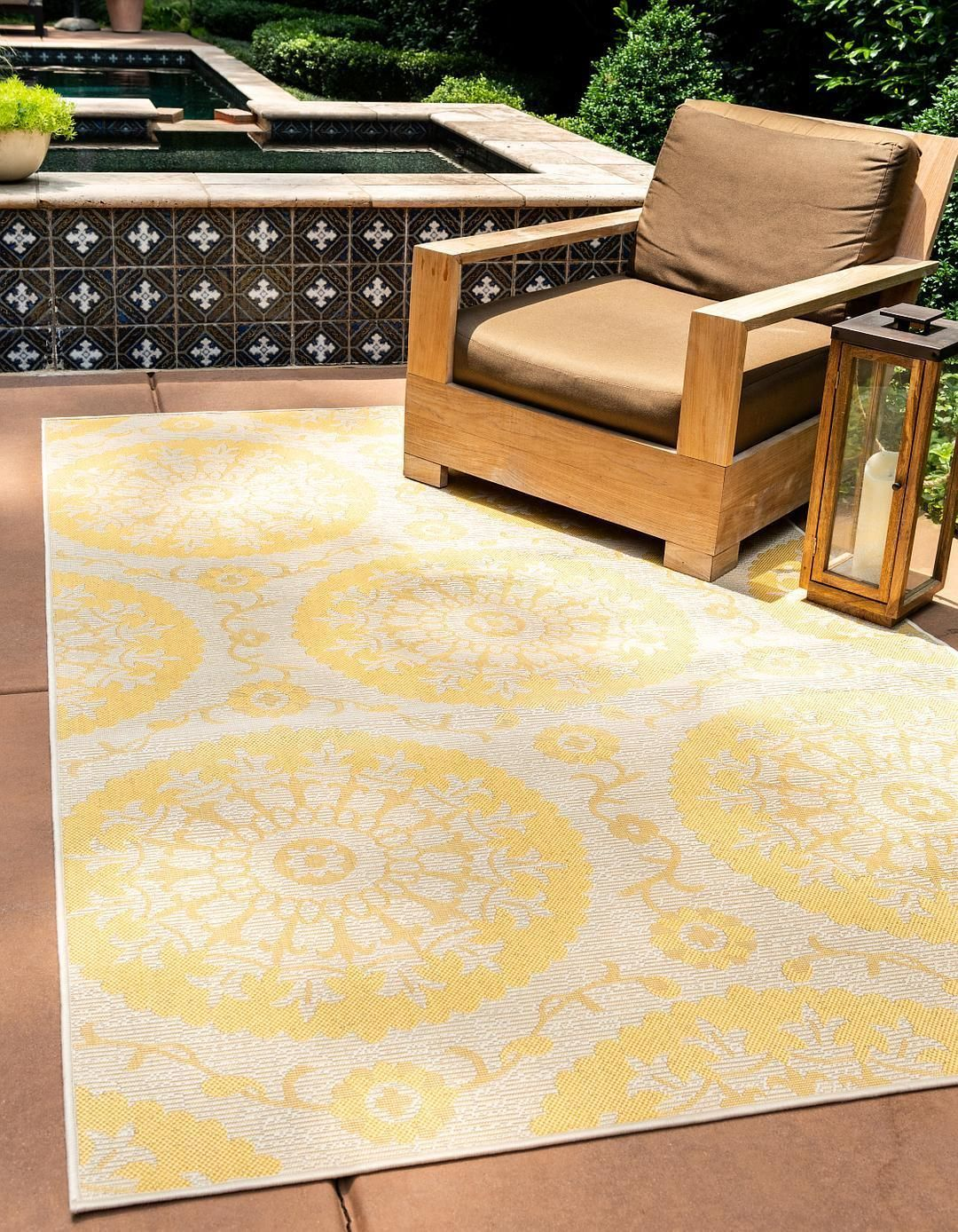 Outdoor Botanical Rug Area Rugs