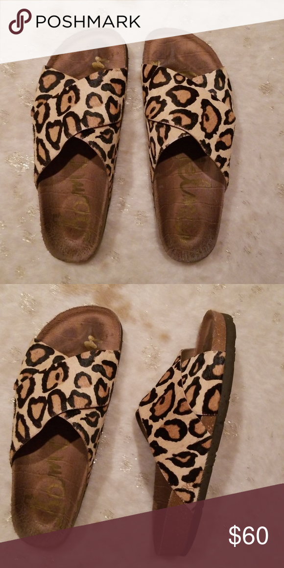 a18e8212b8eba7 Sam Edelman Adora Leopard Slide Sam Edelman Adora calf hair leopard slide Sam  Edelman Shoes Sandals
