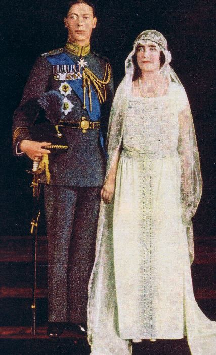 Prince Albert And Lady Elizabeth Bowes Lyon Later King George Vi And Queen Elizabeth Much Later Colin Firth And Helena Bonham Carter Royal Wedding Dress