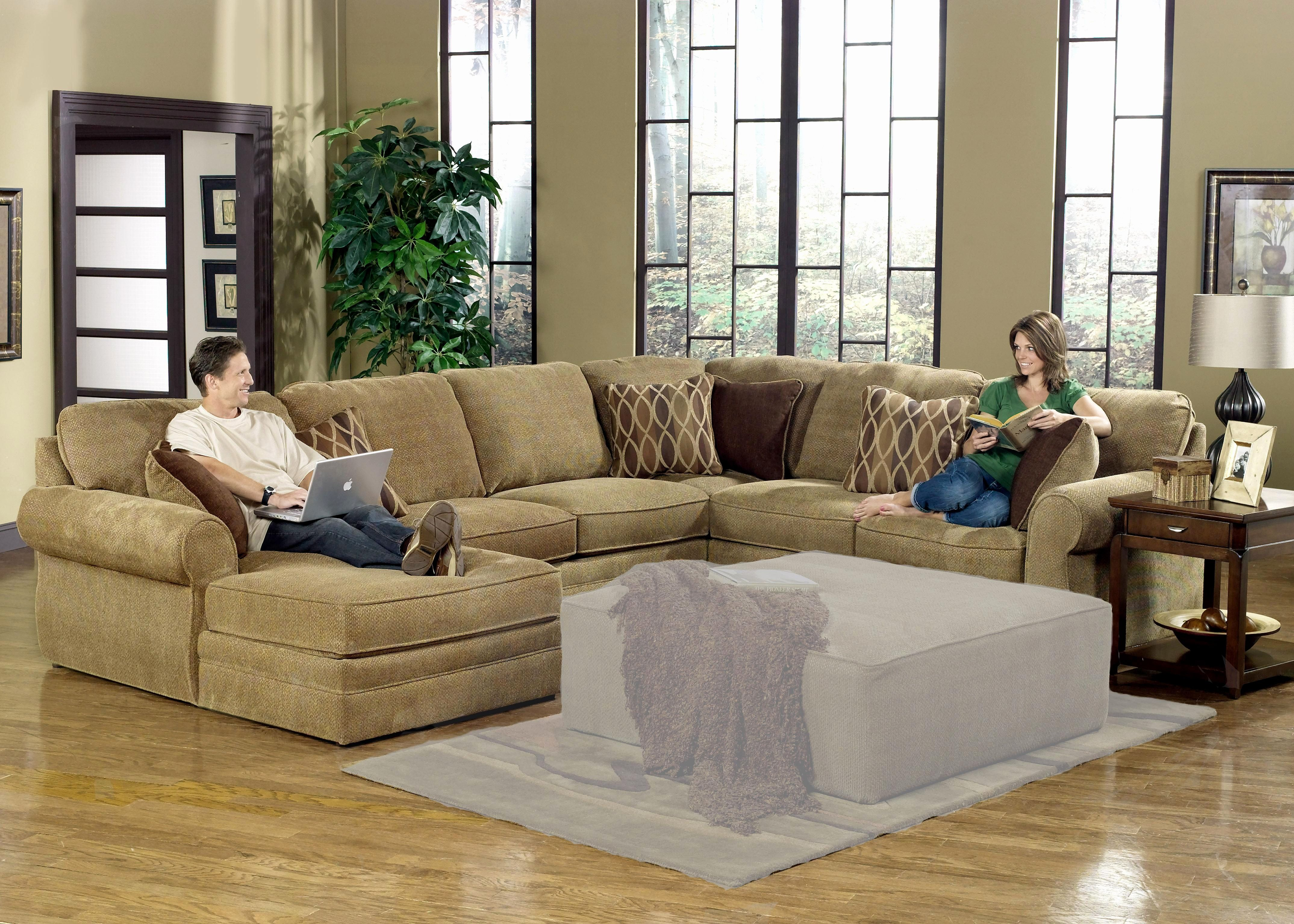 Merveilleux Lovely Chenille Sectional Sofa Graphics Chenille Sectional Sofa New Trenton Sectional  Sofa By Homelegance Tan Chenille