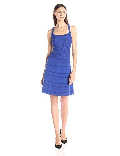 Nanette Lepore Scallop Edge Sleeveless Dress, Sapphire - http://www.womansindex.com/nanette-lepore-scallop-edge-sleeveless-dress-sapphire/