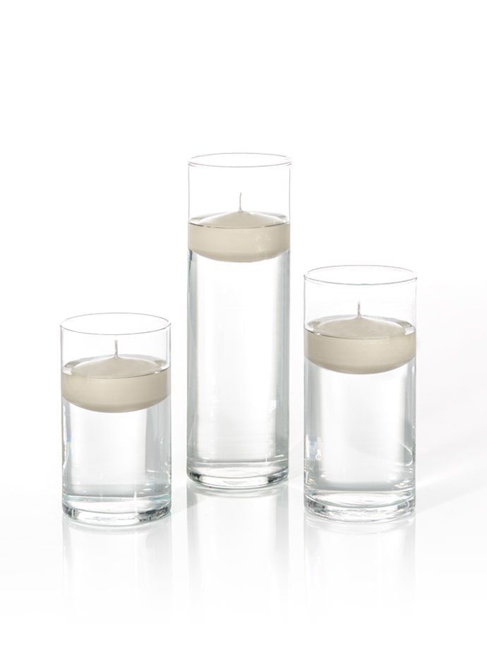 Product 35d X 6 75 9h 3 Floating Candles And Cylinder