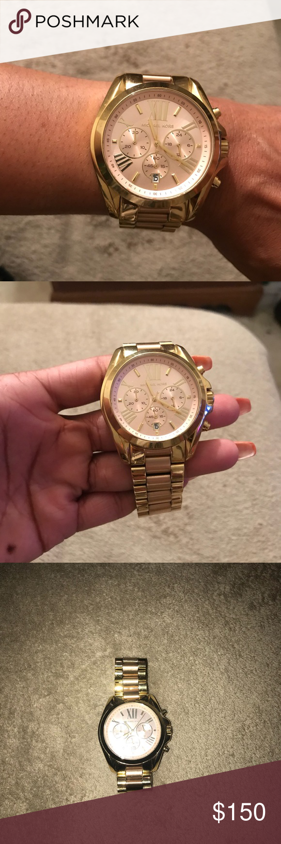 f05f09cefbe8 Michael Kors Chronograph Bradshaw Two-Tone Watch Two-Tone (Gold Rose Gold)  Stainless Steel Bracelet Watch 43MM MK6359. Original Packaging and Links.  KORS ...