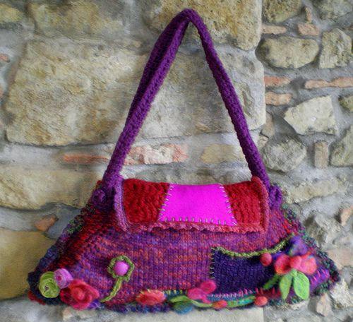 DCerri borsa lana fiori