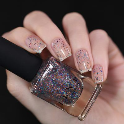 Confetti - Multi-colored Metallic Flakie Topper Nail Polish by ILNP