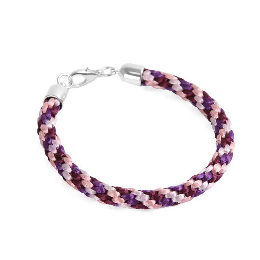 Lilac Kumihimo Braided Bracelet