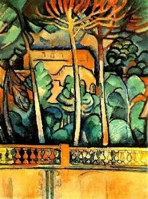Terrasse de l'hôtel Mistral, par Georges Braque