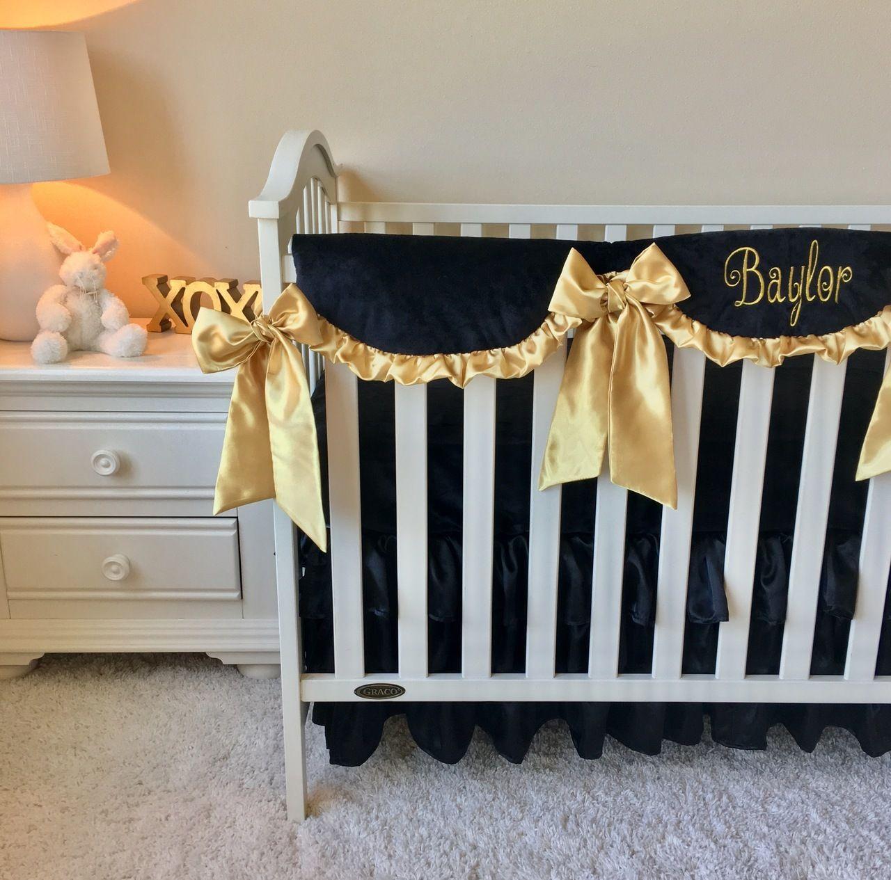 Bumperless Crib Bedding Black And Gold Bumperless Crib Bedding