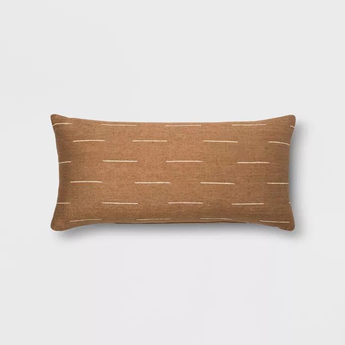 Silk Blend Dash Oversize Lumbar Throw Pillow Project 62 Target Lumbar Throw Pillow Throw Pillows Blue Throw Pillows