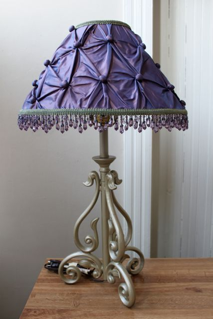 Lavender Lamp Shade A Diy Project Fabric Beaded Trim And