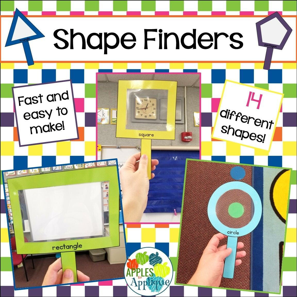 Shape Finders Shape Detective Activity In