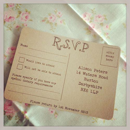 Shabby Chic Vintage Wedding Invitation Bundle Rustic