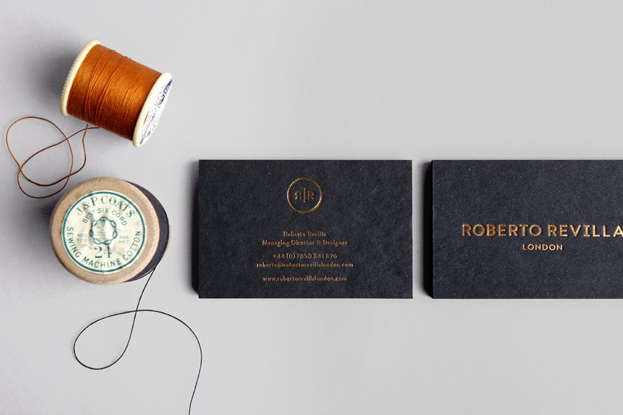 New Brand Identity For Roberto Revilla By Friends Bp O Unique Business Cards Business Card Inspiration Business Card Branding