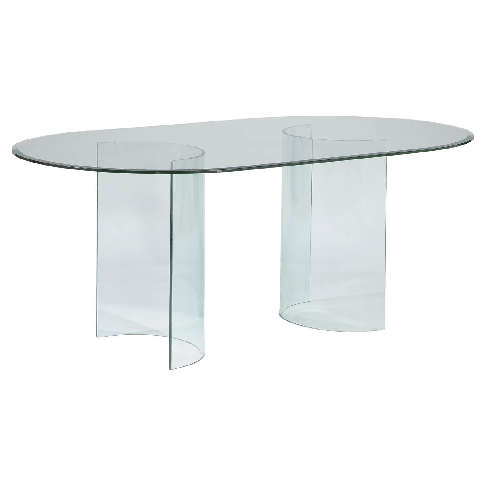 Have To Have It Chintaly Carmel Oval Dining Table With Glass Top