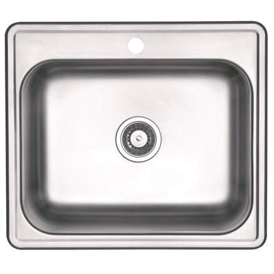 Wessan Wessan Drop In 12 Deep Stainless Steel Laundry Sink Jr623d121 Home Depot Canada Laundry Sink Sink Home Depot Canada