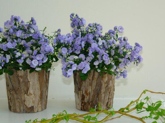 Natural Birch Bark Wood Vases Cylinder Flower Pot Rustic Baskets Lavender Flowers Wedding Garden Party Centerpieces Flower Pot Rustic Wood Flowers Rustic Vase