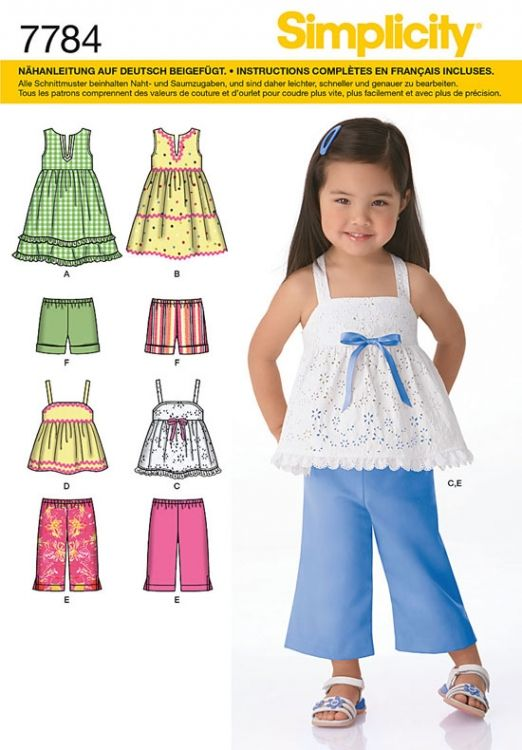 7784 Simplicity Schnittmuster Kinder-Kombination | Kinderkleidung ...