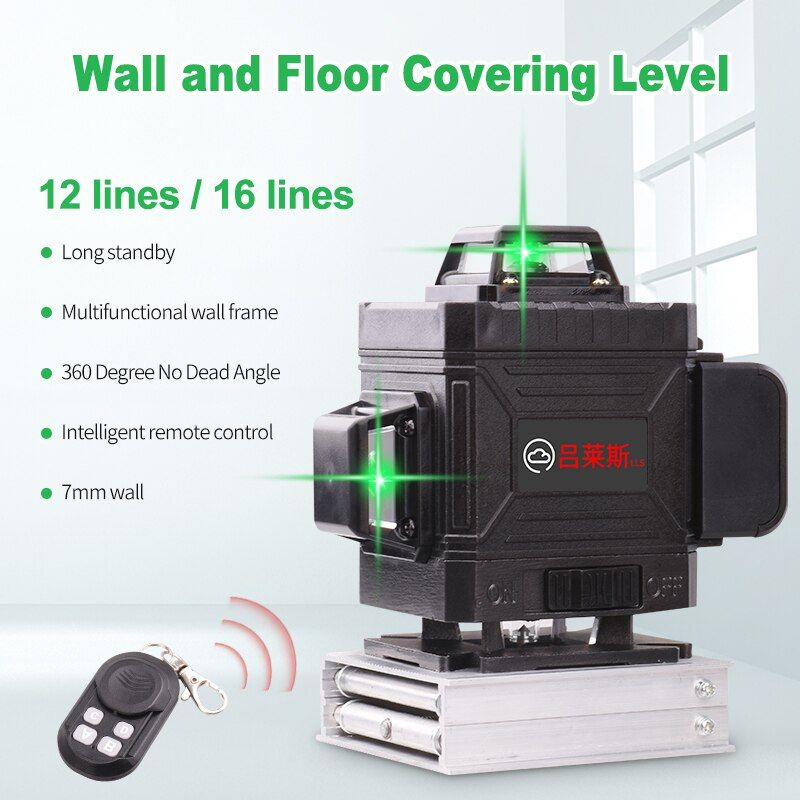16 Lines 4d Laser Level Level Self Leveling 360 Horizontal And Vertical Cross Powerful Green Laser Leve Outdoor Laser Level