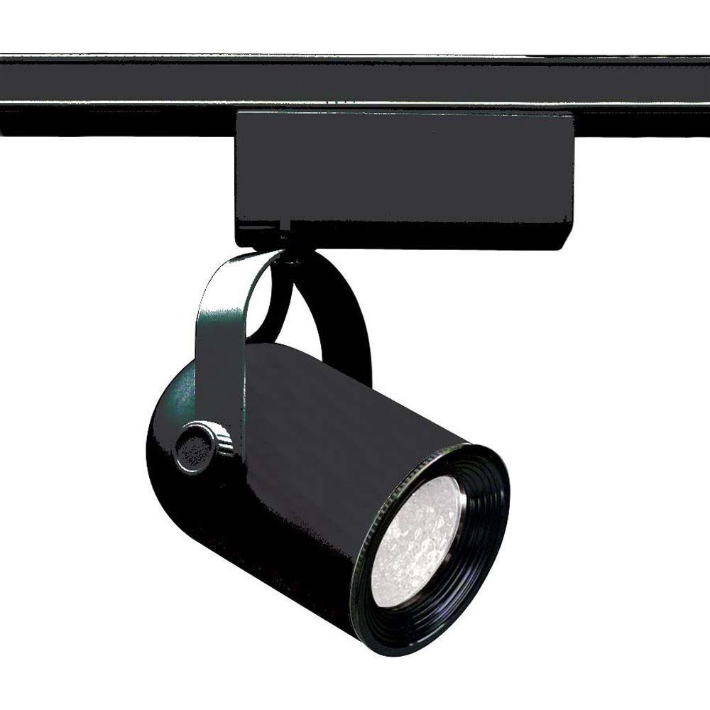 glomar 1 light mr16 12 volt black round back track lighting head