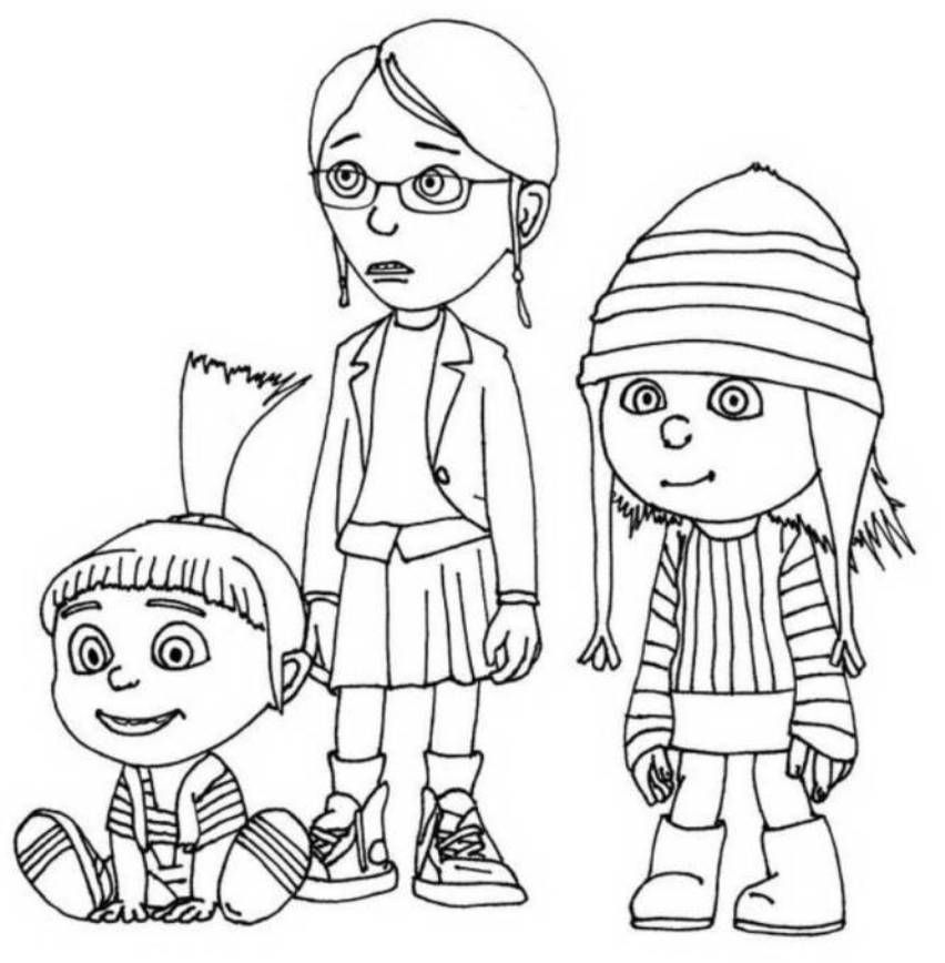 Animations A 2 Z Coloring pages of The Minions Coloring Pages
