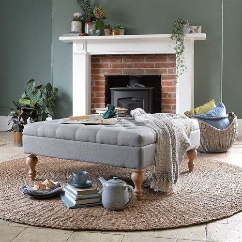 Super Clover Buttoned Coffee Table Grey Linen Living Room In Alphanode Cool Chair Designs And Ideas Alphanodeonline