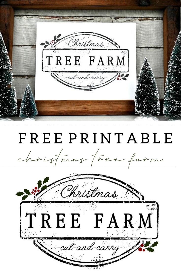 Christmas Tree Farm Printable Christmas Tree Farm
