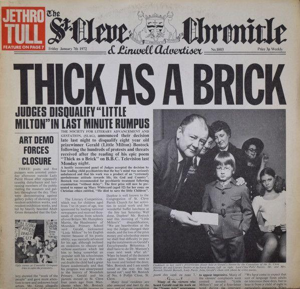 Jethro Tull - Thick As A Brick (Vinyl, LP, Album) at Discogs