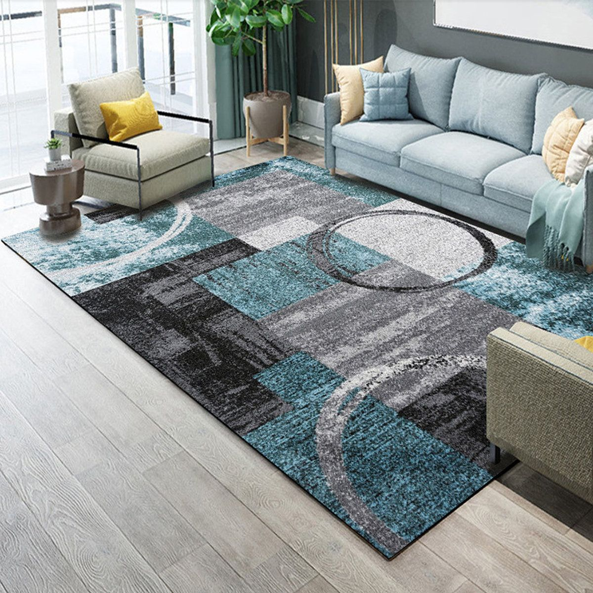 Abstract Extra Small Large Modern Area Rugs Floor Carpet Rug Mat