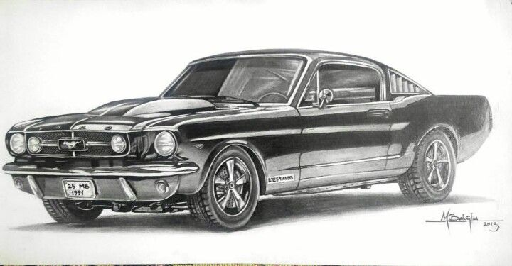Ford Mustang Sketch Draw Pinterest Ford Mustang Ford And