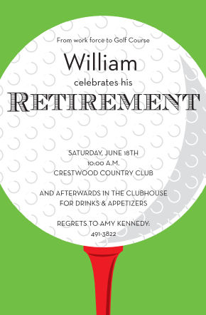 Golf Retirement Party Invitations  Retirement Invitations