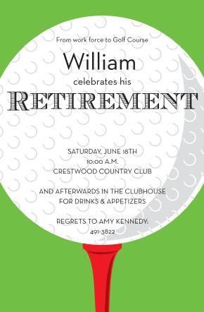 Golf retirement party invitations retirement invitations pinterest custom designed new for summer 2018 golf retirement party invitations stopboris Images