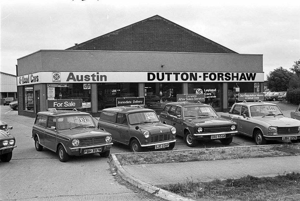 1977 DUTTON FORSHAW AUSTIN CARS DEALERSHIP Suche
