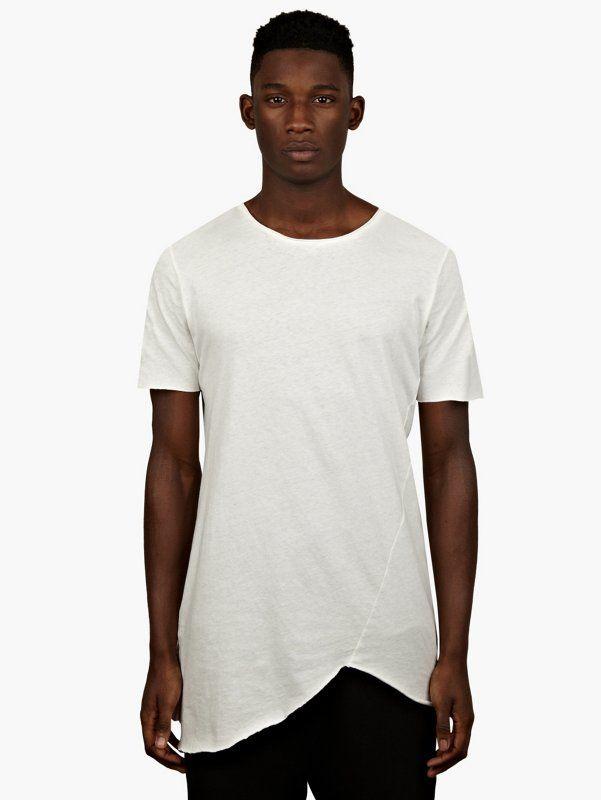 6b29dcde1fd3 Thom Krom Men s White Open Edges T-Shirt