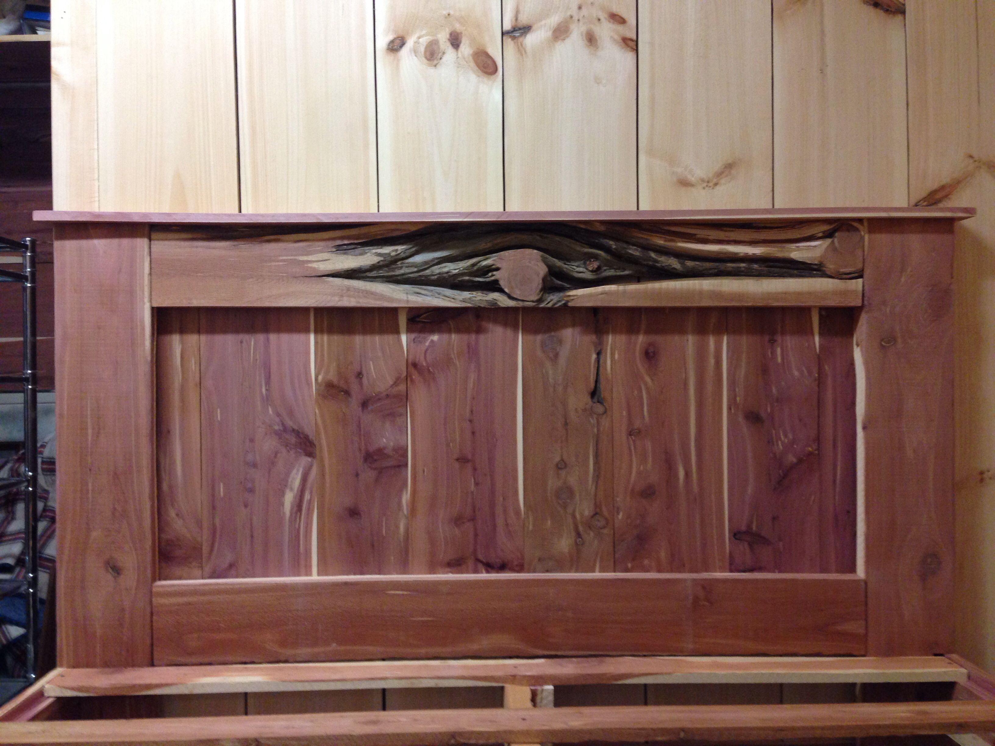 Headboard Of The Cedar Platform Bed I Made For My