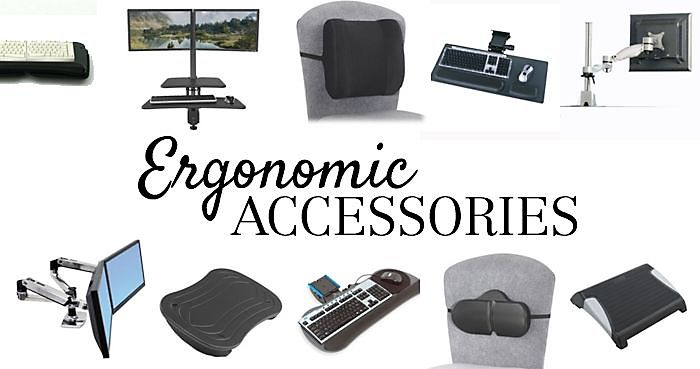 Ergonomic Accessories to Help You Stay Comfortable // Learn more about what ergonomic accessories to use in your office on the NBF Blog