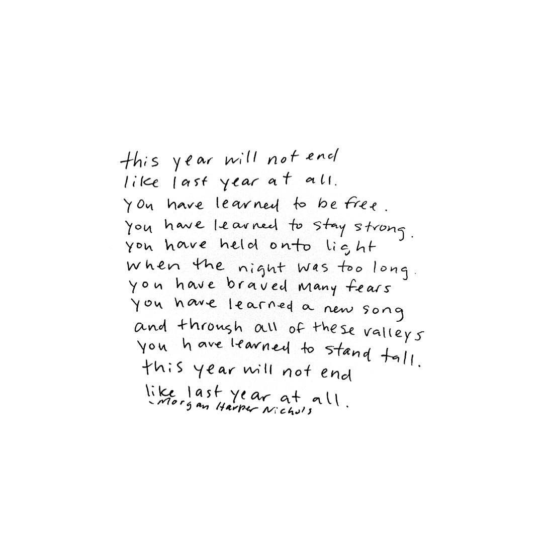 this year will not end like last year at all. | words. | Pinterest ...