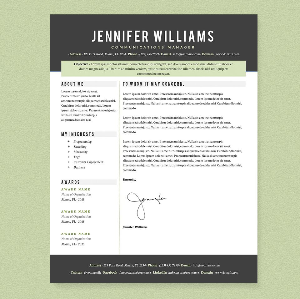 Professional Resume Template Pkg. Resume template