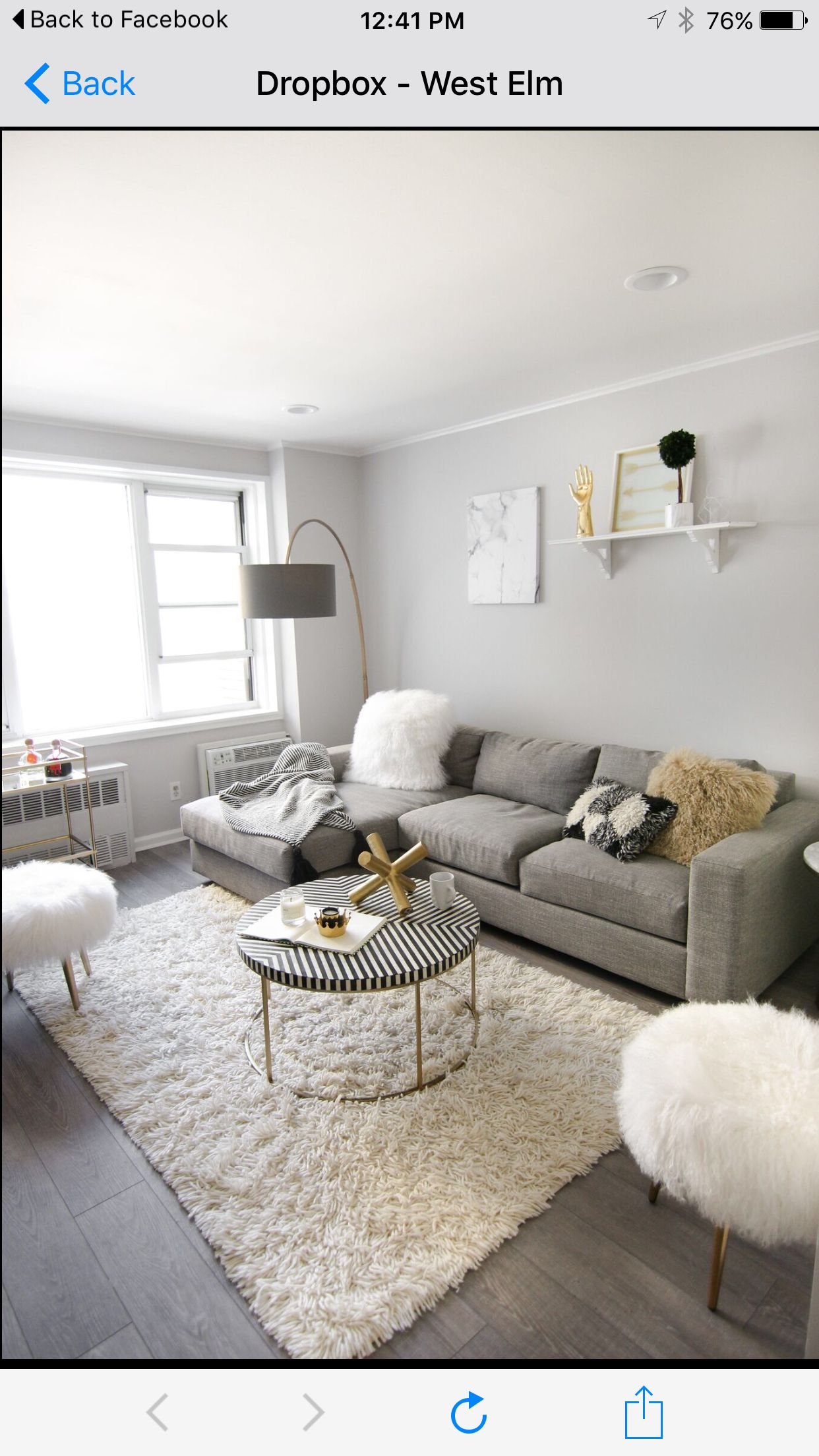 Gold And Gray Living Room: West Elm Gray And Gold Living Room